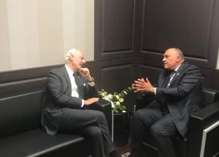 شكري يلتقي مبعوثي الأمم المتحدة لكل من ليبيا وسوريا