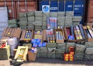 إحباط تهريب 6 ملايين عبوة ألعاب نارية من الصين عبر ميناء الإسكندرية