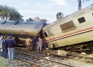 """""""السكة الحديد"""": سائق """"قطار بني سويف"""" المسؤول عن الحادث بسبب السرعة الزائدة"""