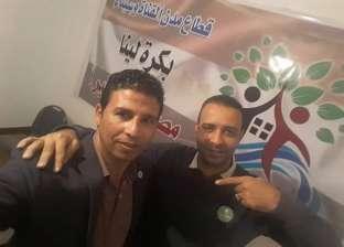 وفد شبابي من الإسماعيلية يشاركون أداء صلاة الجمعة بمسجد الروضة