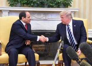 """ترامب: """"شرف عظيم لي أن أرحب بالرئيس السيسي"""""""