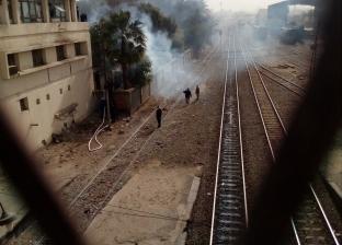 حريق ضخم في عقار مجاور لمحطة بولاق الدكرور