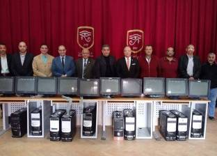 """المدارس الخاصة تتبرع بـ10 أجهزة حاسب آلي لنظيرتها """"الحكومية"""" ببورسعيد"""
