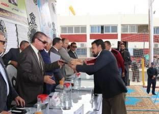 بالصور  محافظ كفر الشيخ ورئيس القابضة للمياه يكرمان العاملين بمحطة سخا