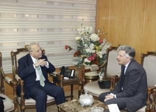 بالصور  وزير العدل يلتقي السفير البريطاني بالقاهرة