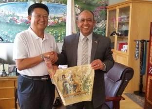 وفد صيني يزور كلية الزراعة بجامعة عين شمس