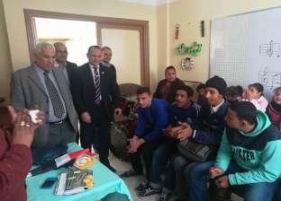 """وكيل """"تعليم البحيرة"""" يتابع مدرسة ناصر للتربية الفكرية بدمنهور"""