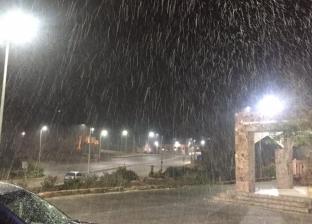 """عاصفة ثلجية تضرب سانت كاترين.. و""""جنوب سيناء"""" تعلن الطوارئ"""