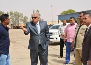 محافظ الوادي الجديد يتفقد مصنع تدوير المخلفات بمدينة الخارجة