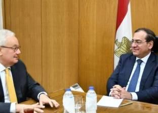 وزير البترول يستقبل السفير الإيطالي لبحث سبل التعاون الاقتصادي