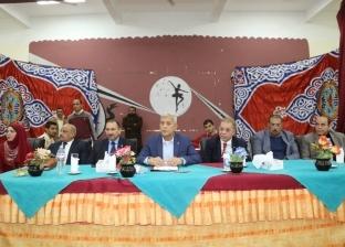 محافظ المنوفية يعقد لقاء جماهيريا مفتوحا مع أهالي منوف لبحث شكواهم