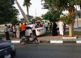 مصرع عامل صدمته سيارة مجهولة على طريق الفيوم