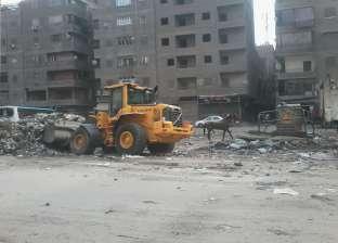 رفع 1700 طن مخلفات هدم من شوارع شرق مدينة نصر