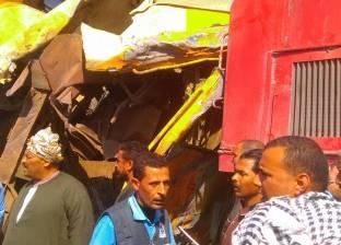 عاجل| مصرع 12 راكبًا في تصادم قطارين على خط المناشي بالبحيرة