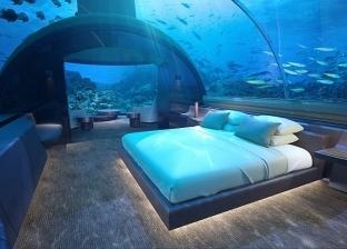 بالصور| الليلة بـ50 ألف دولار.. أول فندق تحت سطح البحر في المالديف