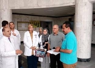 بالصور| رئيس المحلة يتفقد سير العمل بالعيادات الخارجية بمعهد الكبد