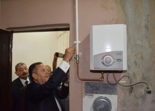 بالصور| محافظ بني سويف يطلق إشارة تشغيل الغاز الطبيعي في أول قرية بمركز ناصر