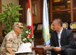 بالصور| محافظ كفرالشيخ يستقبل مدير جمعية المحاربين