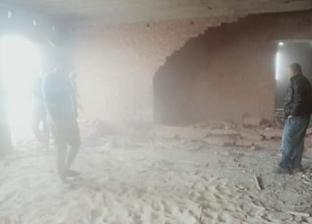 إزالة تعديات على أرض زراعية وعقار مخالف في قرية بدمياط