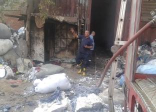 إخماد حريق مخزن قطن بمنطقة العكرشة في الخانكة