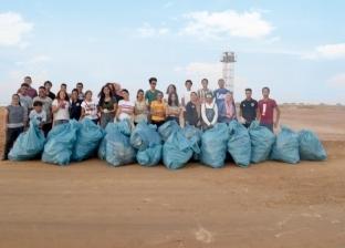 صور.. معسكر بيئي لنظافة محمية نبق بجنوب سيناء