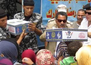 """مدير أمن الإسماعيلية يوزع كراتين """"أمان"""" على مواطني القنطرة شرق"""