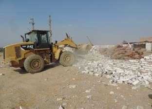 إزالة 60 حالة تعد على الأراضي الزراعية وأملاك الدولة في بنها