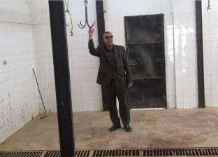 """بالصور  رئيس مدينة """"أبو رديس"""" يتفقد المجزر الآلي"""