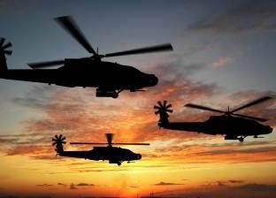 """4 طائرات هليكوبتر تبدأ عمليات إطفاء """"حريق الراشدة"""""""