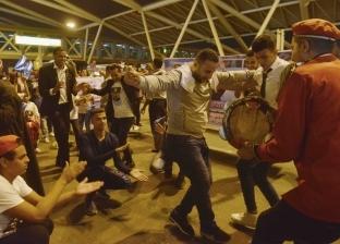 وصول أبطال الأولمبياد لمطار القاهرة