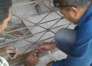 غلق ومصادرة معدات مقهى تحت الإنشاء في شارع بورسعيد