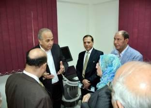 اللواء محمود عشماوي يتفقد مركز القلب بقليوب