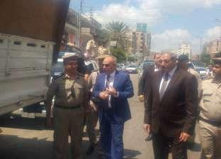 مدير أمن الدقهلية يقود حملة بالمنصورة لإزالة الإشغالات قبل العيد