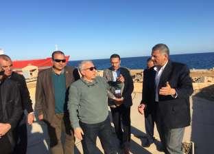 بالصور| رئيس هيئة موانئ البحر الأحمر يتفقد ميناء سفاجا