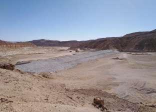 بالصور| رئيس مدينة نويبع: نعمل على إقامة بحيرة لتخزين مياه السيول