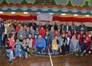 """تكريم الطلاب المشاركين في مشروع """"أبطال ألعاب القوى"""" بالبحيرة"""