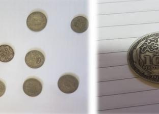 ضبط راكب أجنبي على متن عبارة بحيازته عملات معدنية أثرية