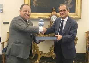 وزير المالية يبحث مع نظيره الإيطالي مشروعات التصنيع المشترك