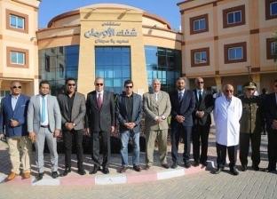 وزير الشباب والرياضة يزور مستشفى شفاء الأورمان بالأقصر