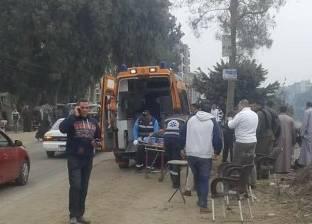 إصابة 4 أشخاص بحروق متفرقة إثر تسرب غاز في مركز الشهداء