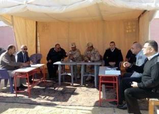 رئيس أركان الجيش الثالث الميداني يتفقد لجان مدينة رأس سدر بجنوب سيناء