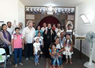 أسقف جنوب سيناء يتفقد كنيسة السيدة العذراء بمدينة أبوزنيمة