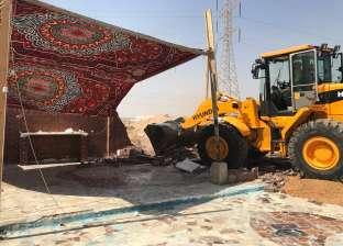 قرى بني مزار بالمنيا تواصل حملات إزالة التعديات