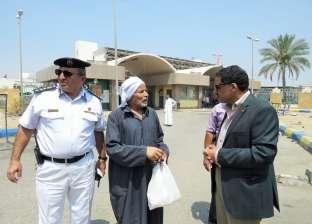 مدير أمن الإسماعيلية يتفقد الحالة المرورية وموقف المستشفى العام