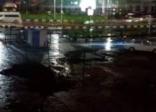 عودة حركة المرور بالإسكندرية بعد سحب سيارات القوات المسلحة المياه المتراكمة
