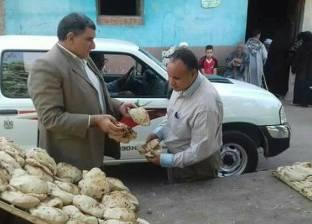 تحرير 19 محضر مخالفة لمخابز بلدية بقرى دير مواس بالمنيا