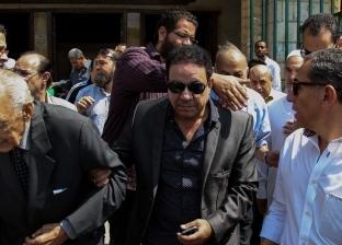 نجل فؤاد المهندس ووحيد حامد ومحمد أبو داوود في جنازة سمير خفاجي