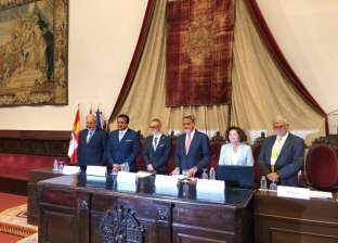"""وزير التعليم العالي يستعرض """"رؤية مصر 2030"""" باحتفالية في إسبانيا"""