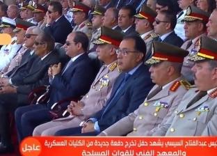 بالفيديو.. تفاصيل حفل تخريج دفعات الكليات العسكرية بحضور الرئيس السيسي