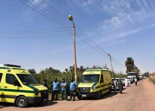 مصرع وإصابة 7 في حادث انقلاب سيارة ميكروباص بالفيوم